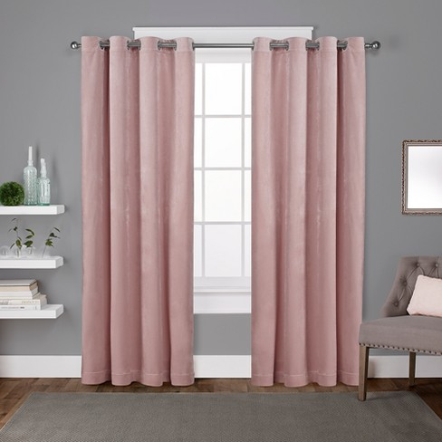 Exclusive Home Velvet Heavyweight Grommet Top Window Curtain Panel Pair