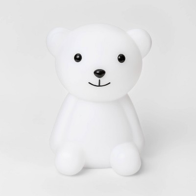 Bear LED Nightlight with Energy Efficient Light Bulb White/Black - Pillowfort™