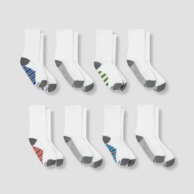 Hanes Premium Boys' 8pk Crew Athletic Socks