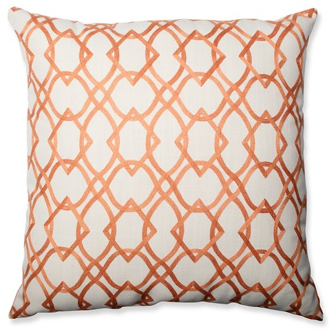 Forget Me Knots Tangerine Throw Pillow - Pillow Perfect® - image 1 of 2