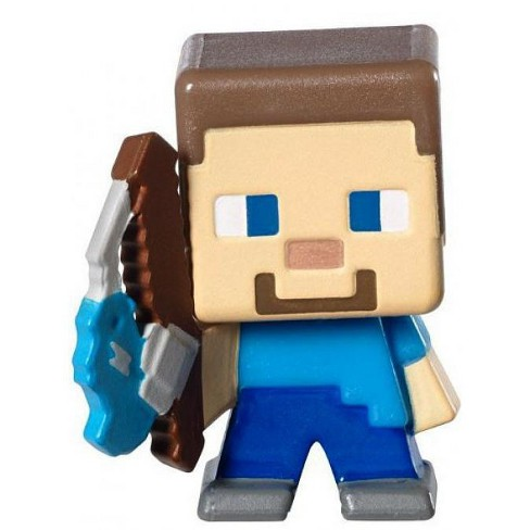Minecraft Stone Series 2 Fishing Steve 1 Inch Mini Figure Loose