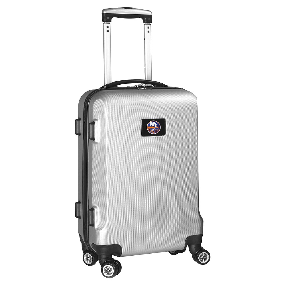 NHL Mojo New York Islanders Hardcase Spinner Carry On Suitcase - Silver