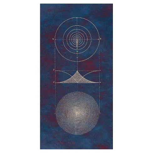 Topographic Diagrams 2 Unframed Wall Canvas Art -(18X36) - image 1 of 1