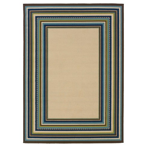 Roxy Indoor/Outdoor Area Rug - Cream - image 1 of 2