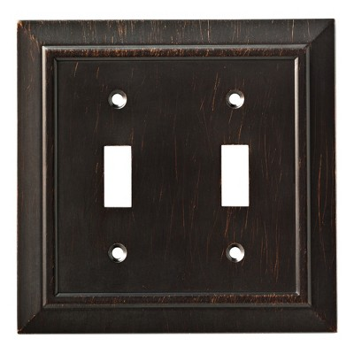 Franklin Brass Classic Architecture Double Switch Wall Plate Venetian Bronze