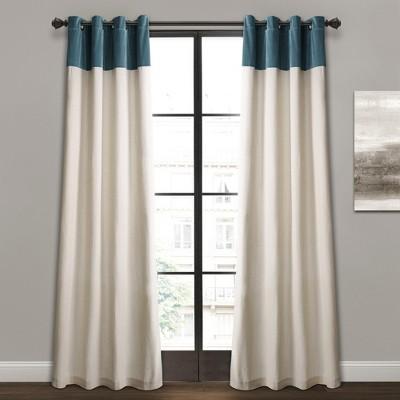 """84"""" x 52"""" Milo Linen Window Curtain Panels Set - Lush Décor"""