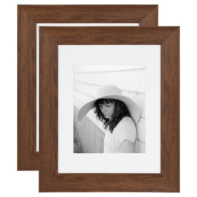 """11"""" x 14"""" Edson Wall Frame Walnut Brown - Kate & Laurel All Things Decor"""