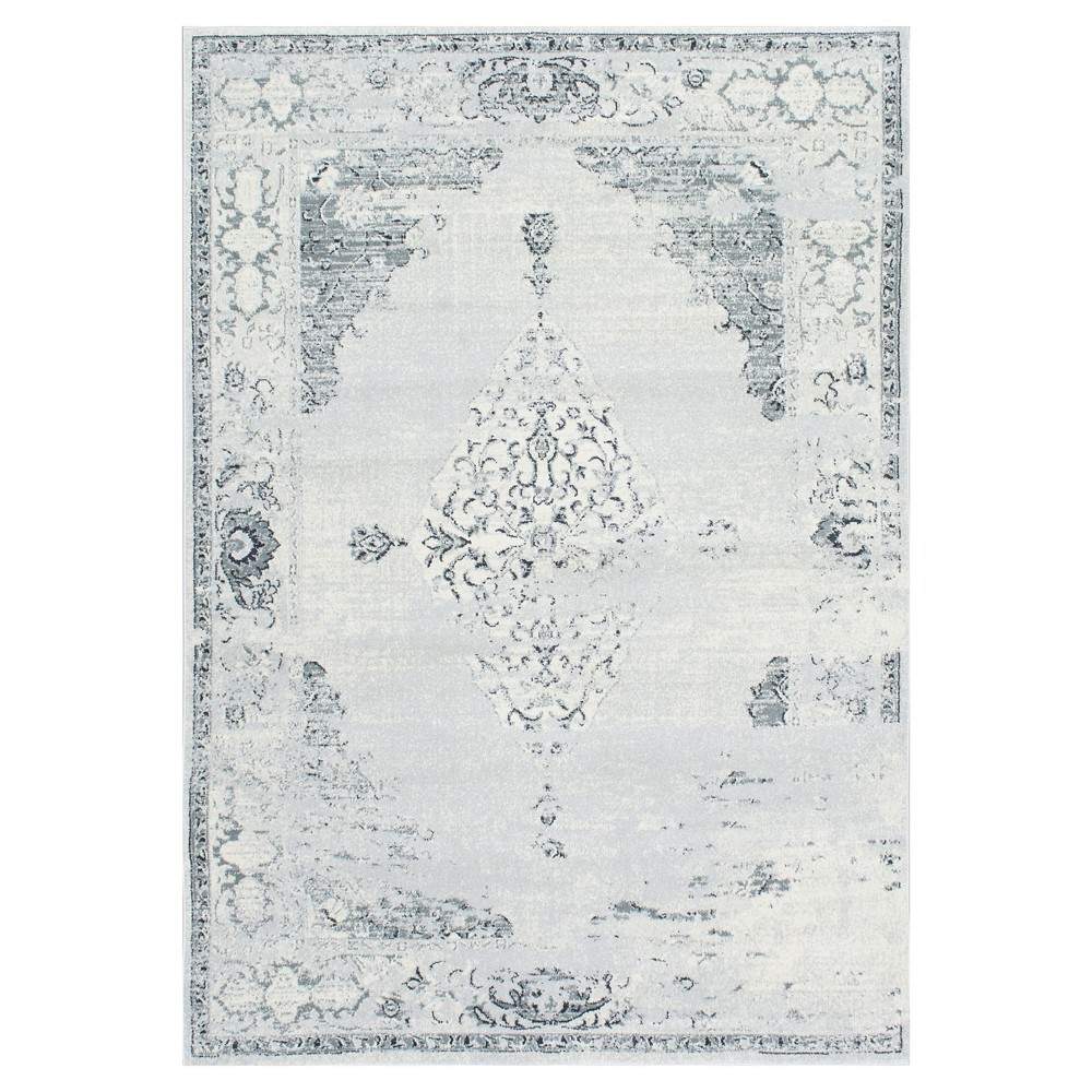 Sterling Gray Solid Loomed Area Rug - (6'7x9') - nuLOOM, Blue