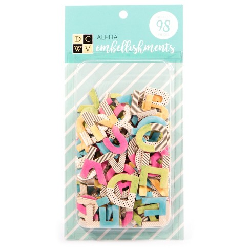 DCWV® Paper Alphabet Embellishments, 98ct - image 1 of 1