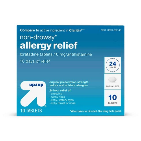 Loratadine Allergy Relief Tablets- 10ct - Up&Up™ (Compare to active ingredient in Claritin) - image 1 of 6
