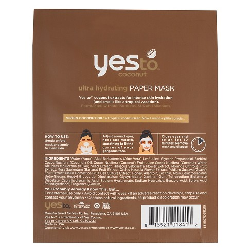 Yes To Coconut Hydrate   Restore Ultra Hydrating Mask - 1ct   Target ebc2974386