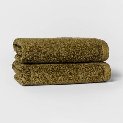 2pk Hand Towel Set Green - Room Essentials™