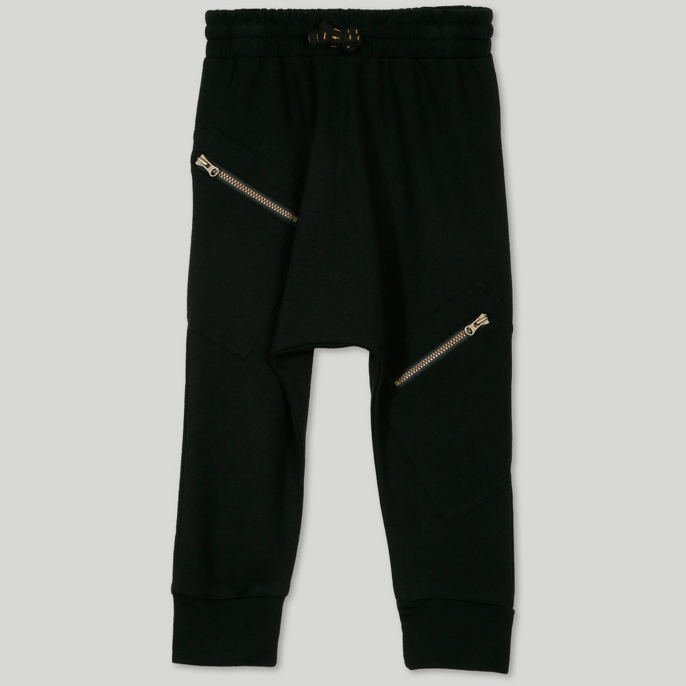 Afton Street Toddler Boys' Cargo Jogger Pants - Black 3T