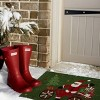 """TAG 1'6"""" x 2'6"""" Whimsy Holiday Santa On Bike Gifts Tree Coir Doormat Indoor Outdoor Welcome Mat - image 2 of 3"""