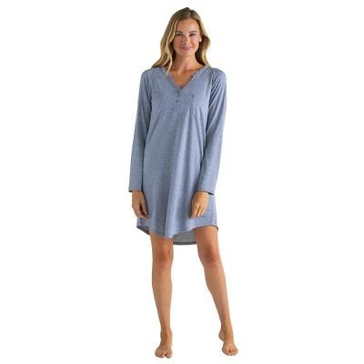 "Softies Women's 36"" Double Patch Pocket Raglan Sleep Shirt"