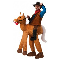 Men's Ride a Horse Pull-On Pants Adult Costume One Size