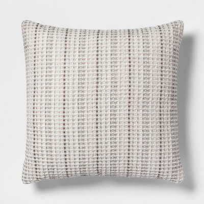 Waffle Oversize Square Throw Pillow Neutral - Threshold™