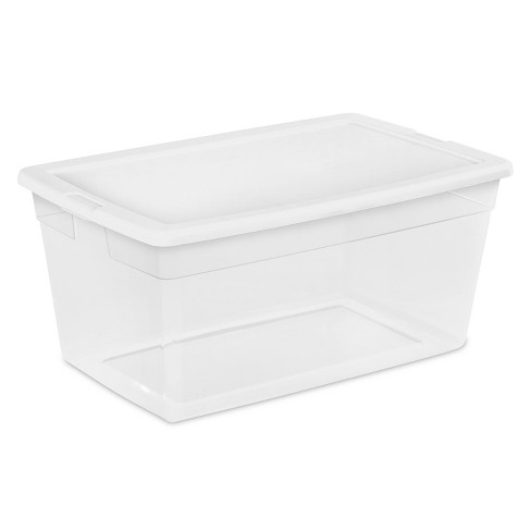 Sterilite 90qt Storage Bin Clear with White Lid - image 1 of 4