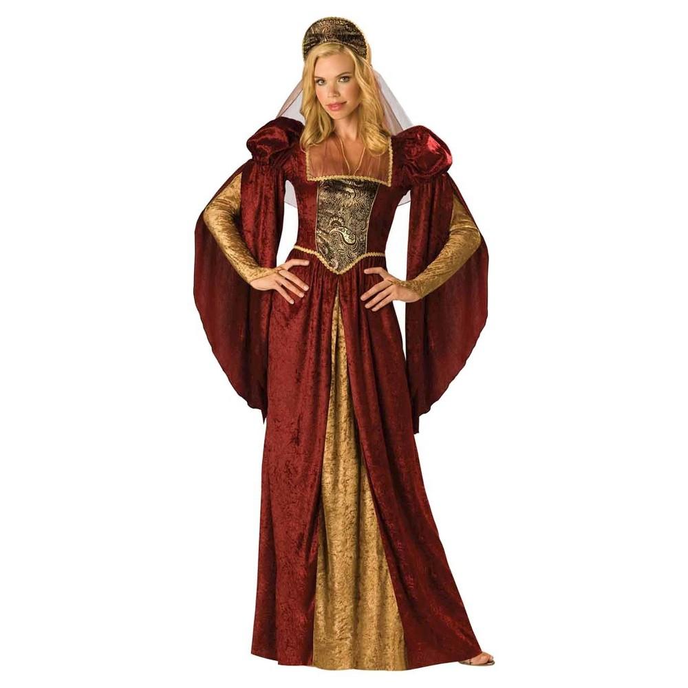 Women's Renaissance Maiden Costume Medium, Multicolored