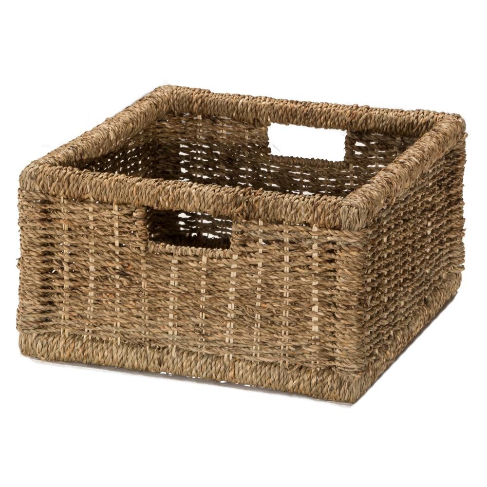 Image of Seneca Basket One Pack Natural Seagrass Storage - Hillsdale Furniture, Sagebrush