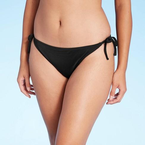 Juniors' Ribbed String Cheeky Bikini Bottom - Xhilaration™ - image 1 of 4