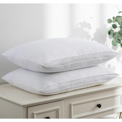 Puredown Gusseted Goose Feather Pillows Set of 2