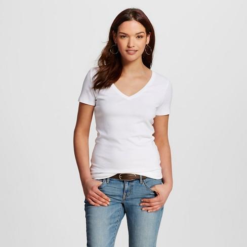 Women's Ultimate Vee Tee Fresh White M - Merona™ - image 1 of 2