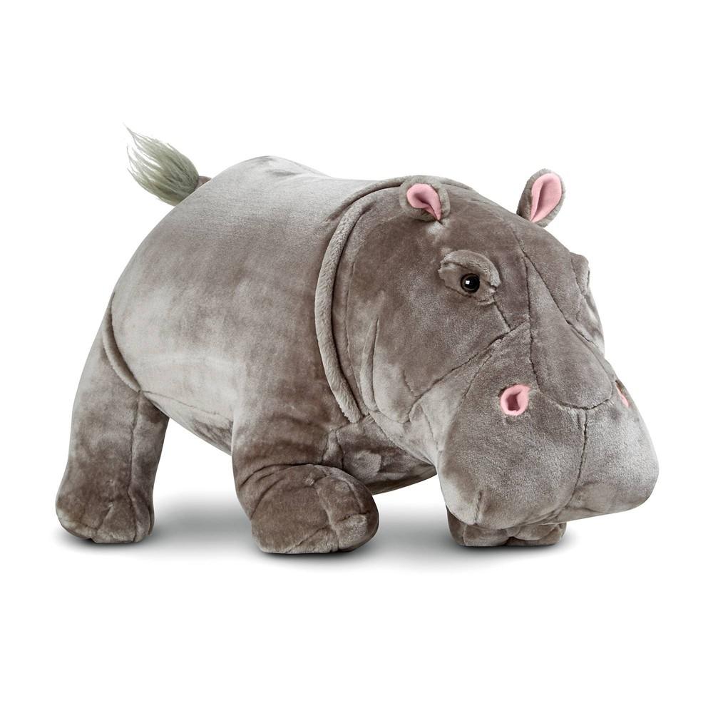 Melissa 38 Doug Giant Hippopotamus Lifelike Stuffed Animal Over 2 Feet Long