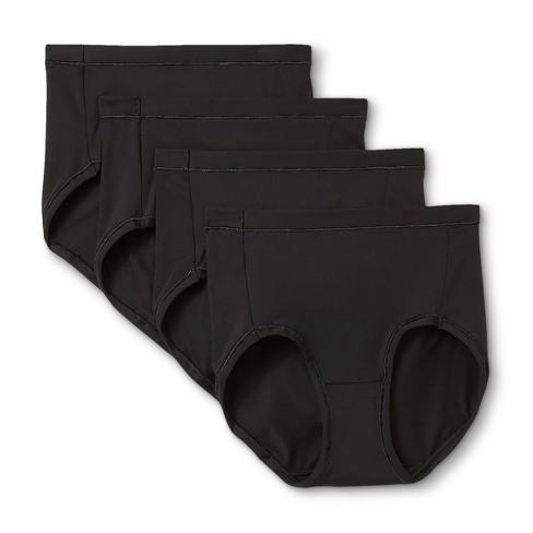 Hanes Premium Women's Cool & Comfortable Microfiber Briefs Panties 4pk - image 1 of 4