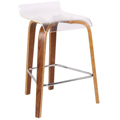 Lumisource Clarity Contemporary Counter Stool Clear