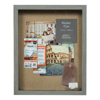 Distressed 12X15 Grey Shadow Box - Gallery Solutions