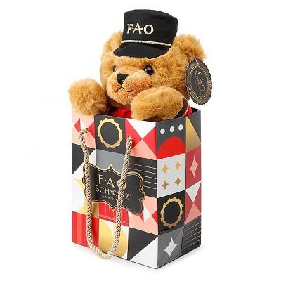 "FAO Schwarz 7"" Bear Soldier in a Bag"