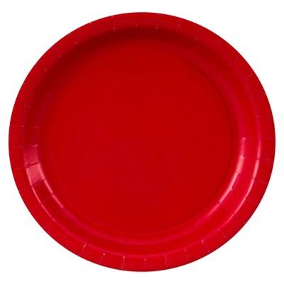 24ct Red Dessert Plate