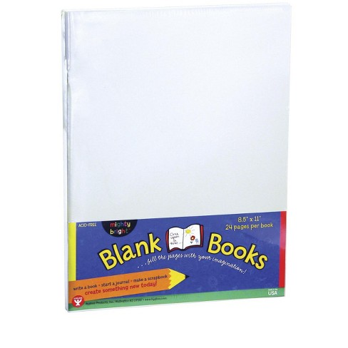 Hygloss Mighty Bright Blank Book, 8-1/2 x 11 Inches, 6 Books with 24 Sheets Each - image 1 of 1