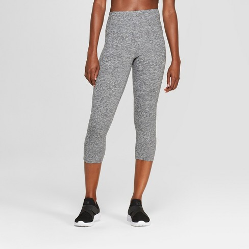 Women's Freedom High-Waisted Capri Leggings - C9 Champion® Black Heather - image 1 of 2