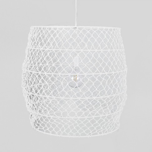 Rope Net Large Pendant Lamp White (Includes Energy Efficient Light Bulb) - Project 62™ + Leanne Ford - image 1 of 3