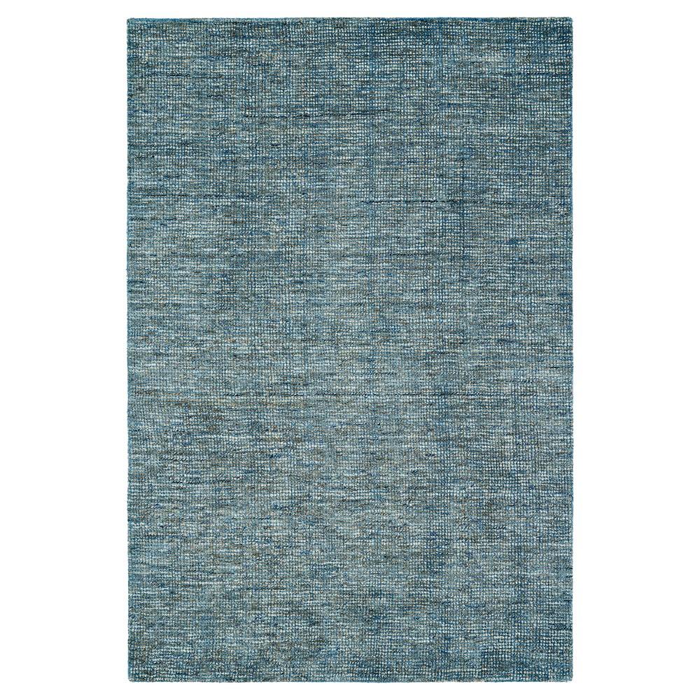 8'X10' Denim Blue Solid Loomed Area Rug - Addison Rugs