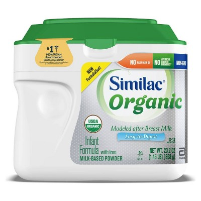 Similac Organic Non-GMO Infant Formula with Iron Powder - 23.2oz