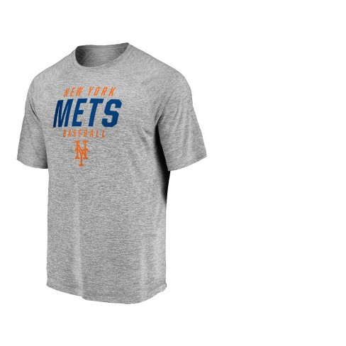 MLB New York Mets Men's Mad Dash Gray Athleisure T-Shirt - image 1 of 3