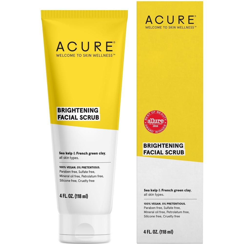 Unscented Acure Brilliantly Brightening Facial Scrub - 4 fl oz
