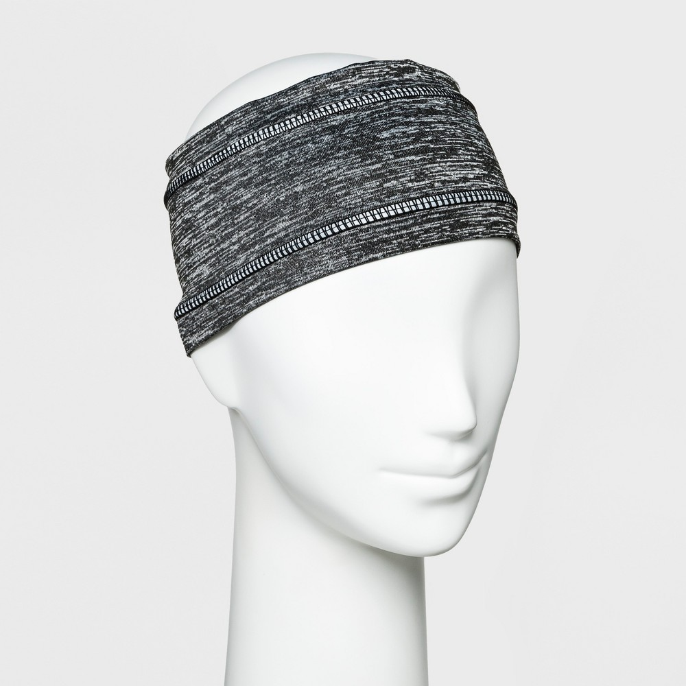 Women's Lightweight Heather with Reflective Tape Outerwear Headband - C9 Champion Gray, Black/Silver