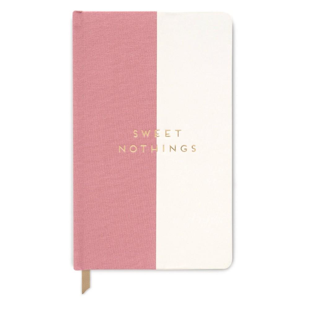 Image of Lined Journal Halfsies Sweet Nothings Dusty Pink- Designworks Ink