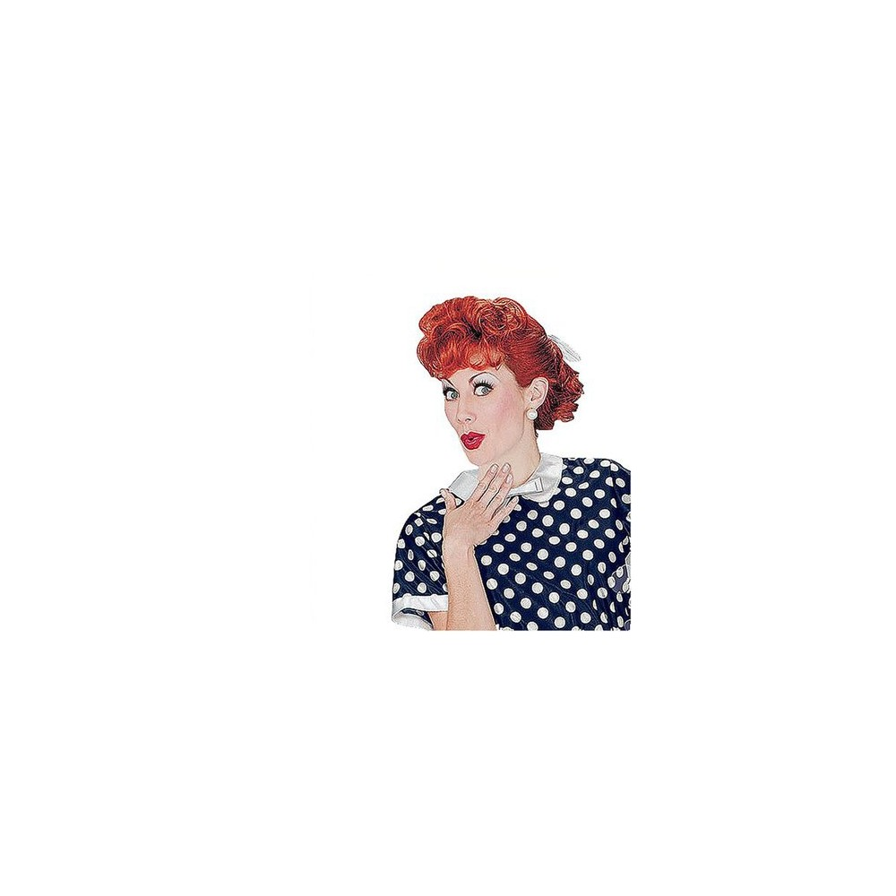 Women's I Love Lucy Wig Red