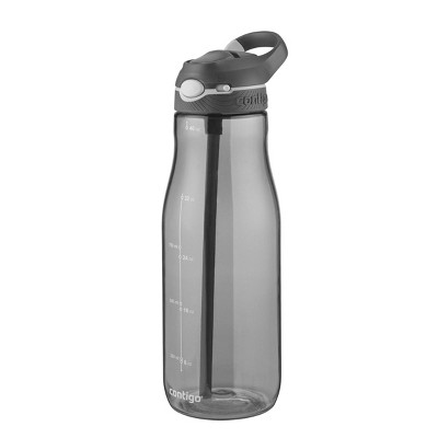 Contigo 40oz Plastic AUTOSPOUT Straw Ashland Water Bottle Gray