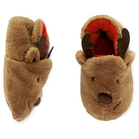 25ad0a19fad0 Toddler Reindeer Slipper - Cat   Jack™ Brown   Target