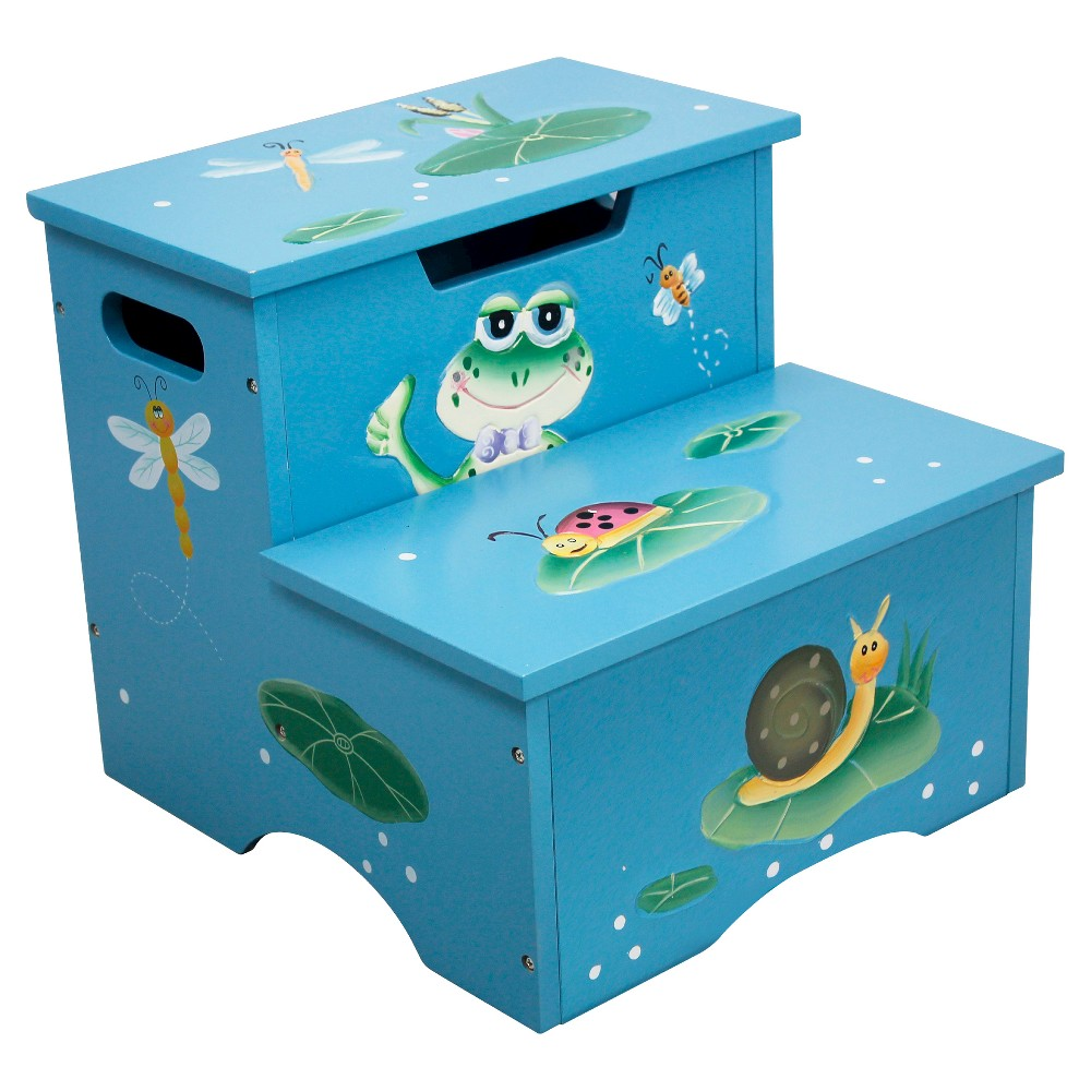 Image of Fantasy Fields Froggy Step Stool with Storage - Teamson