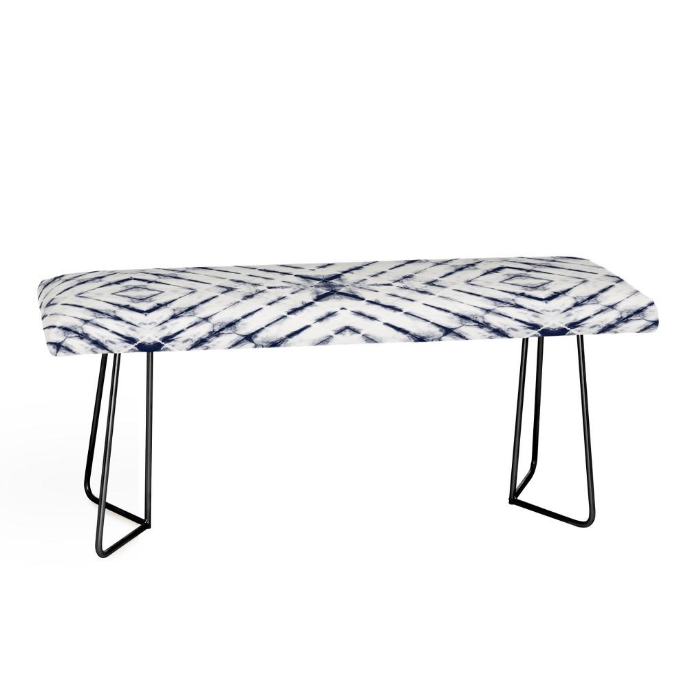Little Arrow Design Co Shibori Bench Blue & Black - Deny ...