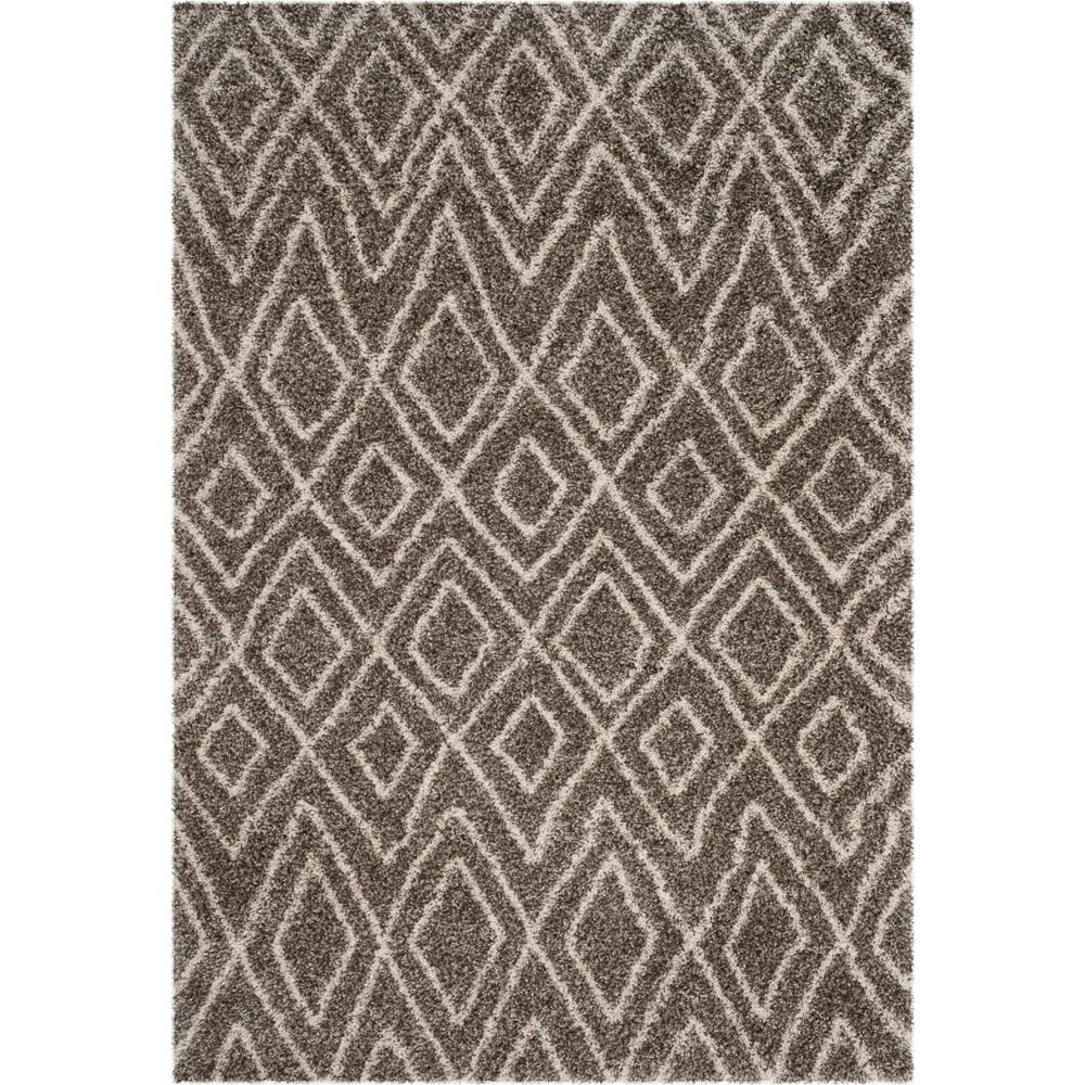 5 1 X7 6 Geometric Loomed Area Rug Gray Ivory Safavieh
