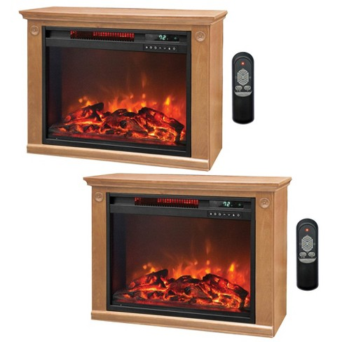 Lifesmart 3 Element Quartz Infrared Electric Portable Fireplace