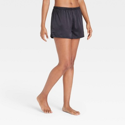 Women's Satin Pajama Shorts - Stars Above™ Black